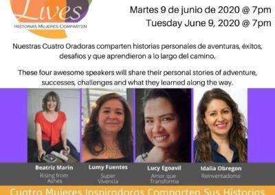 Spoken Lives Promo Card 9 June