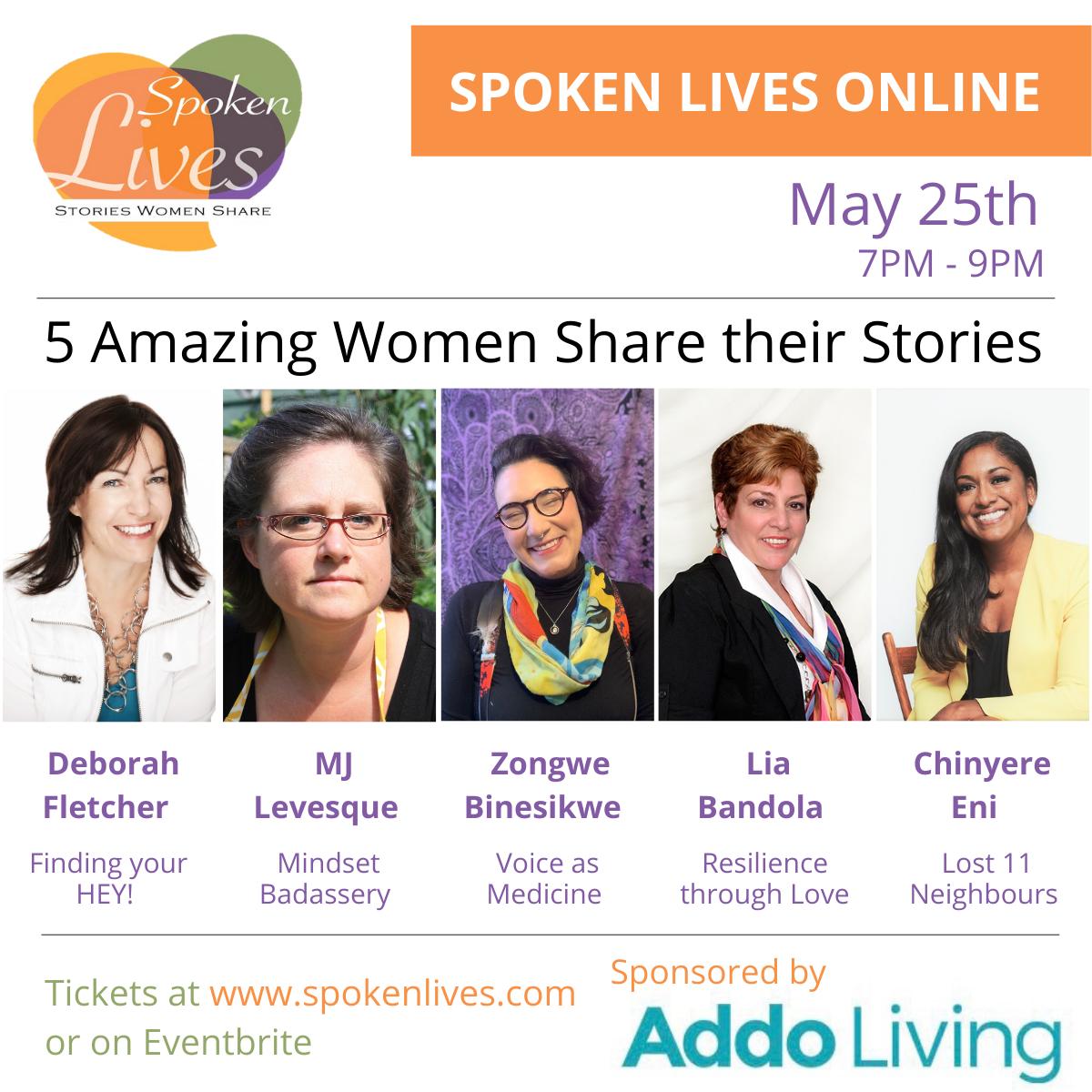 May 25 Flyer Spoken Lives