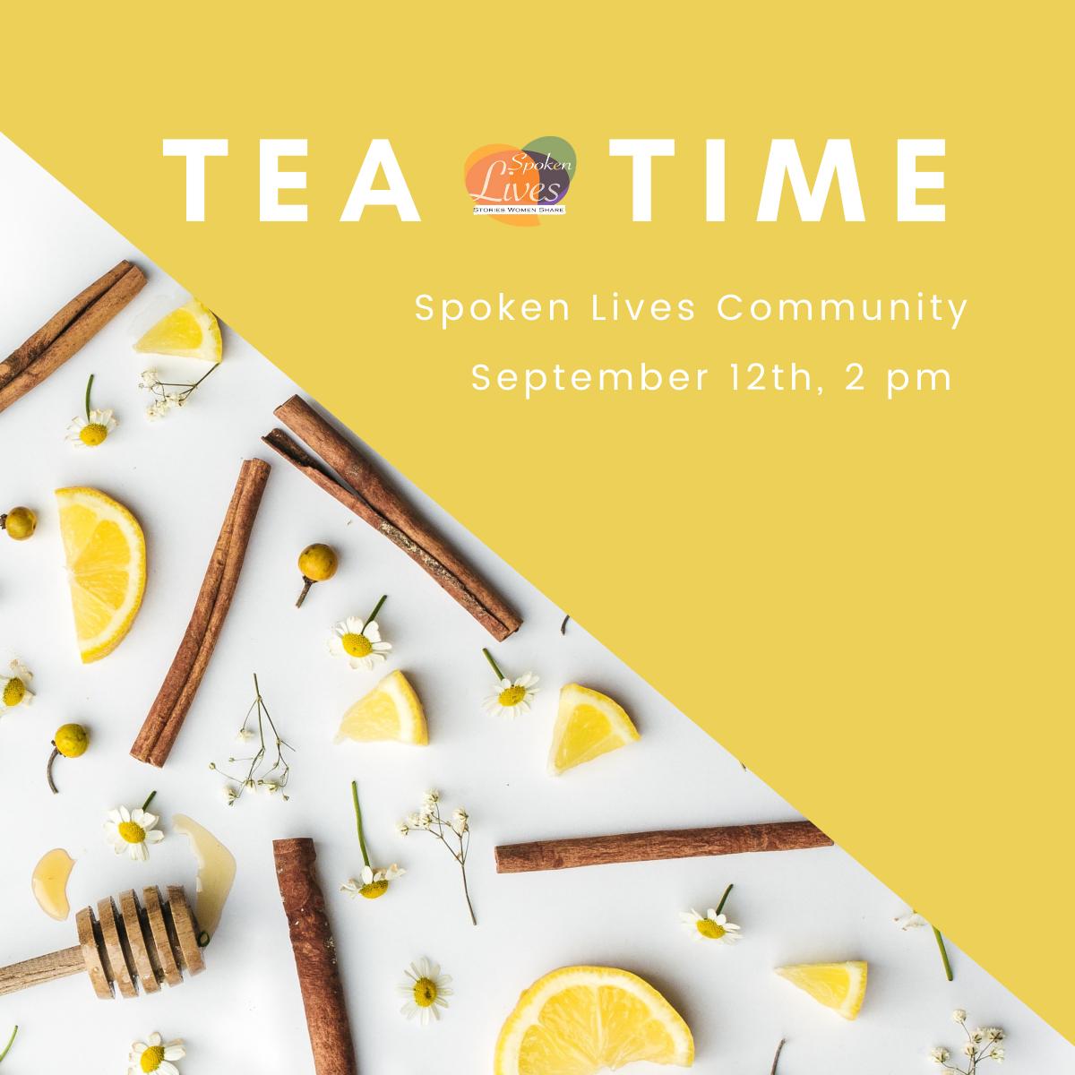 September Tea Time flyer